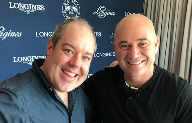 Tennis legend Andre Agassi chats with Sportsday