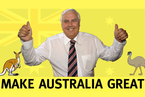 Article image for Why Clive Palmer is within his legal rights to text you and tell you to vote for his party