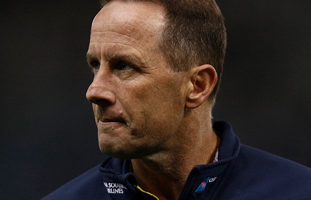 "Article image for Crows coach admits he'll watch AFLX with ""fingers crossed"""