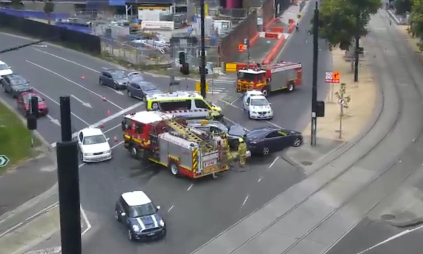 Article image for Wurundjeri Way crash forces Flinders Street lane closure