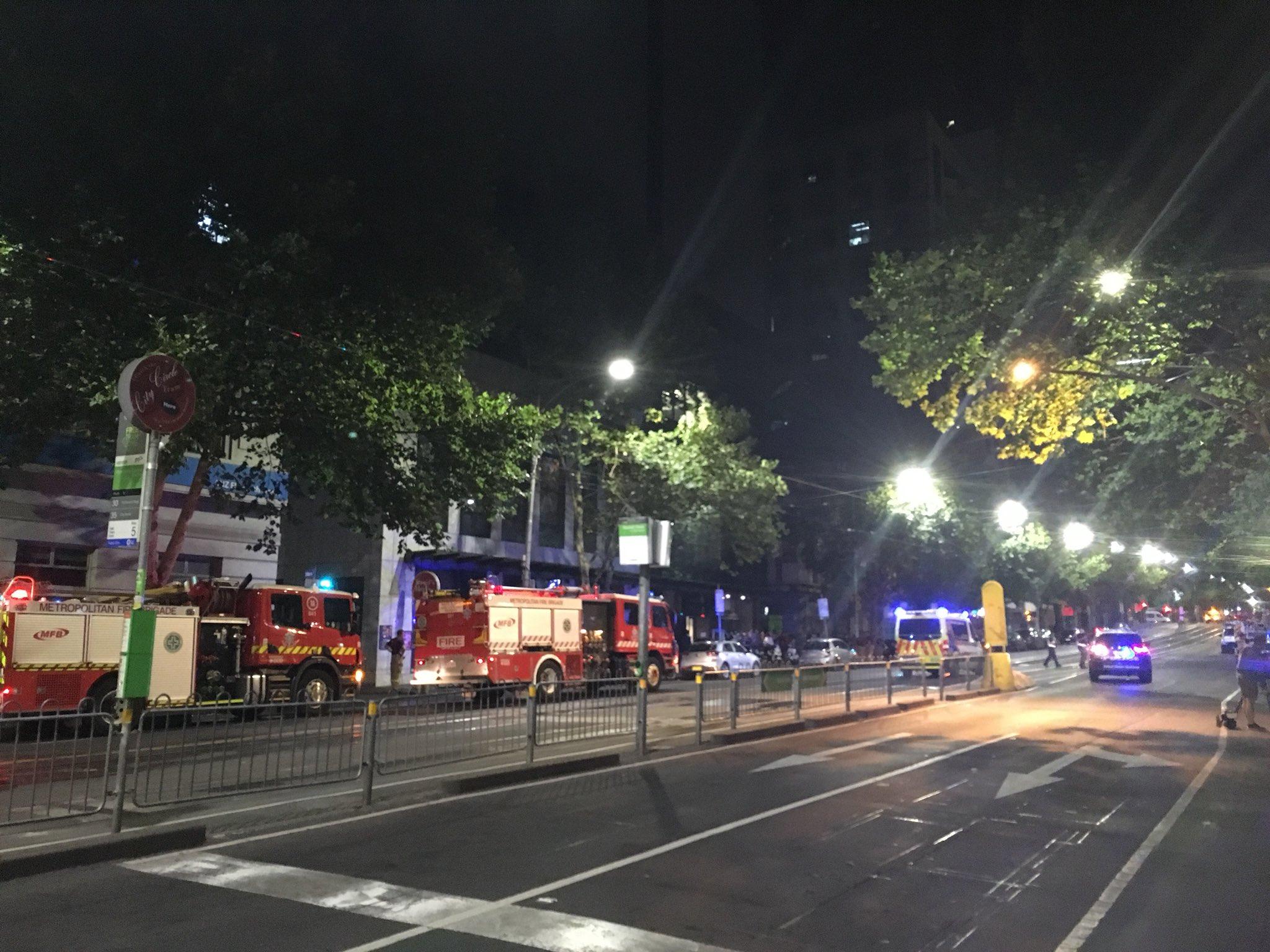 Article image for Rude awakening for hundreds as fire starts on CBD balcony