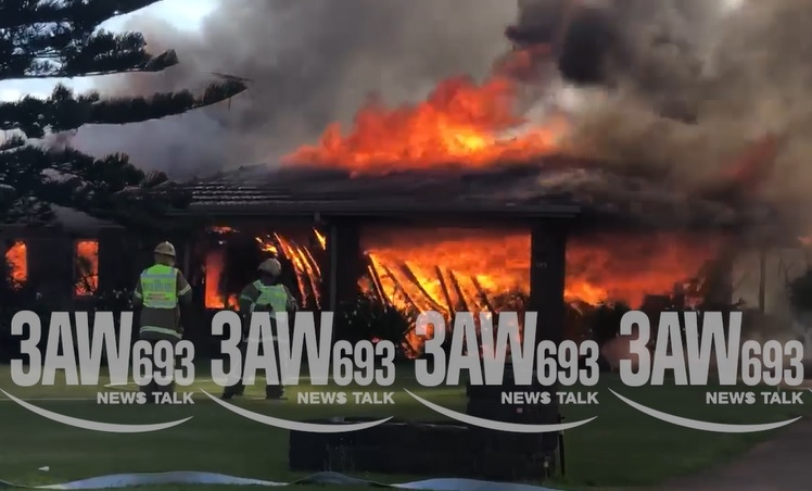 Article image for Werribee South house goes up in flames