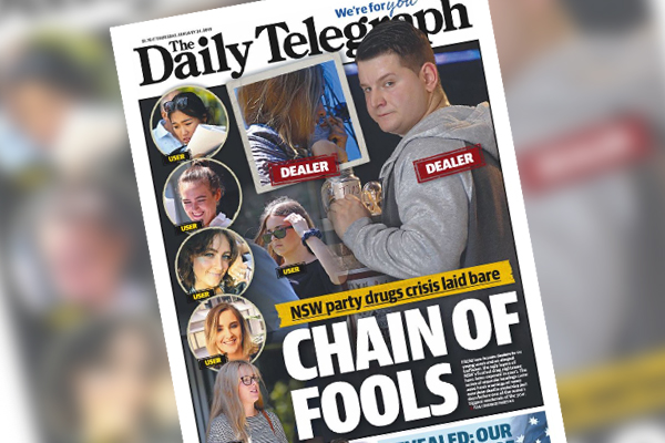 Article image for Sydney newspaper names and shames drug users on front page