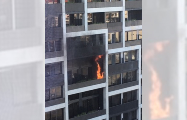 Article image for Tradie injured in Docklands apartment fire