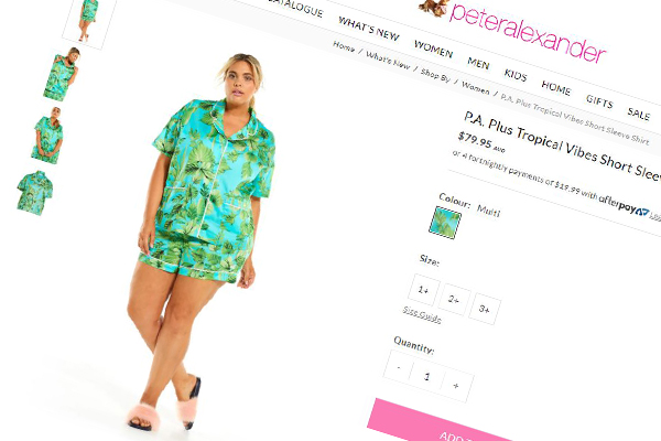 Article image for Australian sleepwear label Peter Alexander charging more for plus-size items