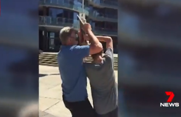 Article image for Video: Sam Newman responds to confrontation with skateboarder