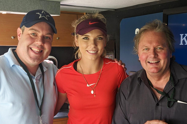 Article image for Live from Kooyong: World number 99 Katie Boulter with Darren James + Shane McInnes