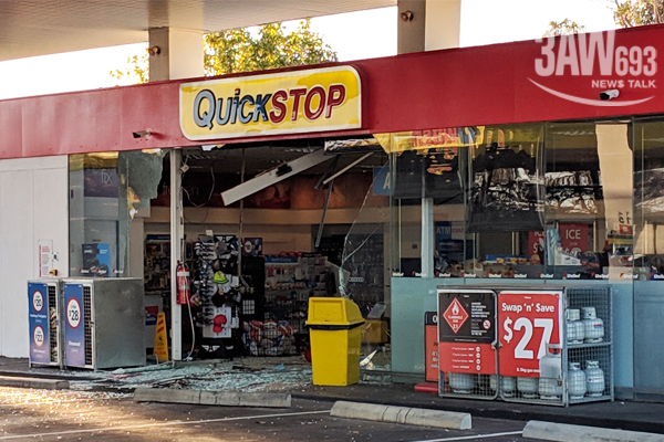 Article image for Driver does three-point turn inside Tyabb petrol station