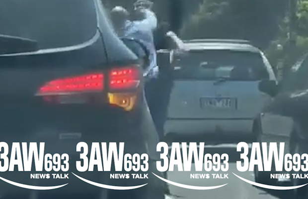 Article image for Driver with young passenger involved in shocking road rage fight