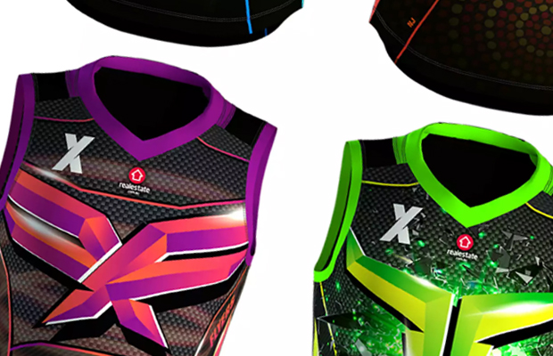 Article image for AFLX jumpers unveiled, including Melbourne star's fiery design