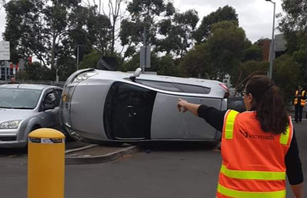 Article image for How on earth did this car end up like this at VicRoads!?