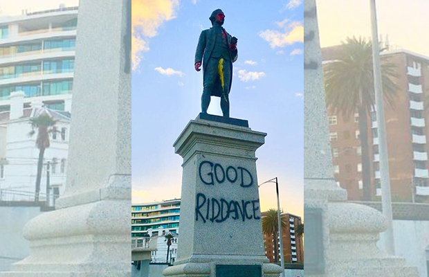 Article image for Captain Cook statue vandalised … again