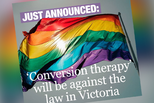 Article image for Premier Daniel Andrews announces gay conversion therapy is to be outlawed