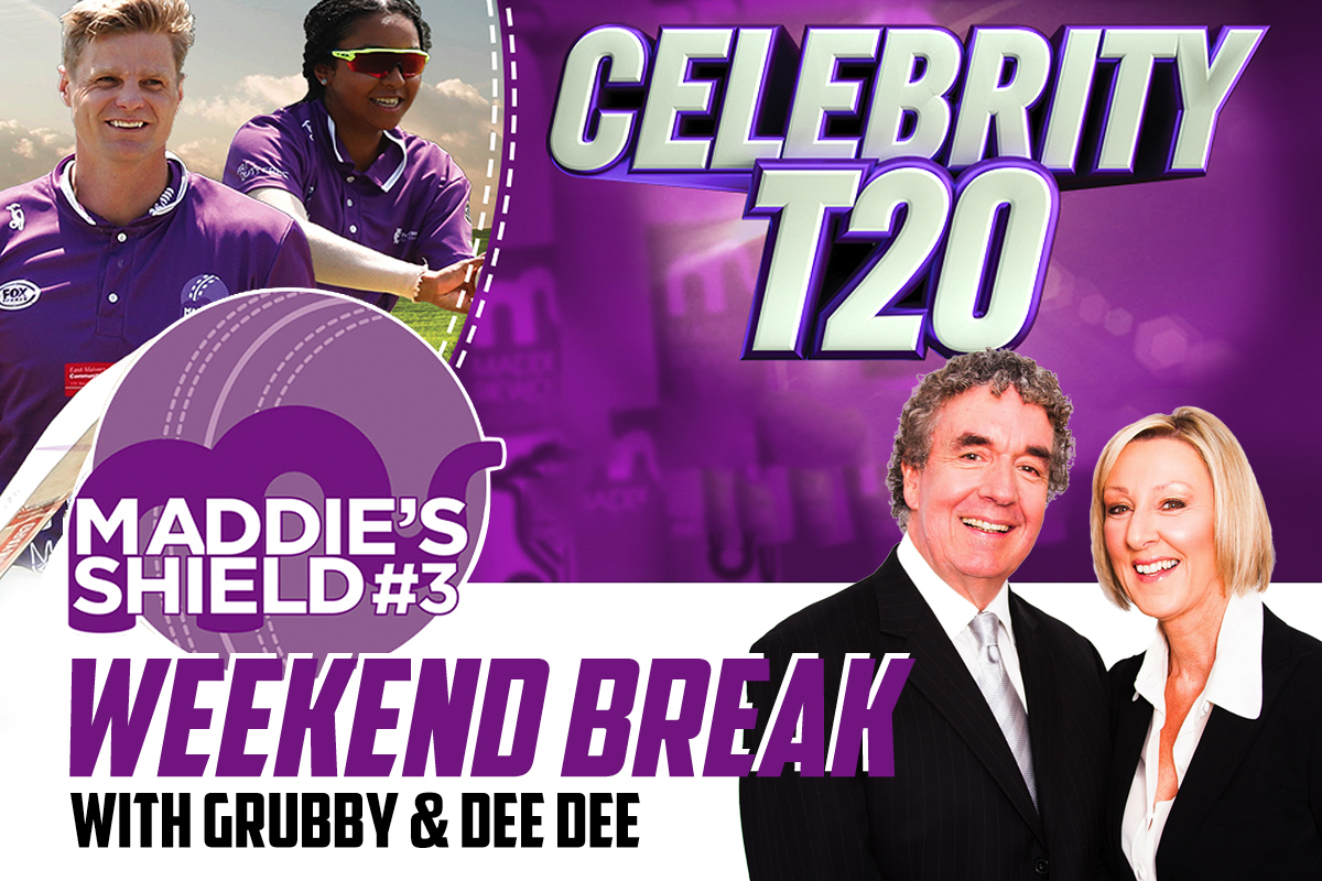 Article image for Join Grubby and Dee Dee at Maddie's Shield Celebrity T20 Cricket Match