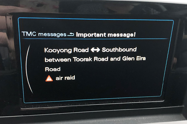 Article image for Woman's Sat Nav advises traffic warning to end all traffic warnings