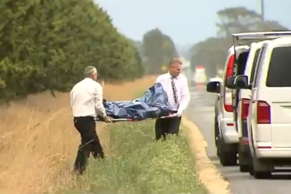 Article image for Pair charged after woman's body found on the side of the road in Gippsland