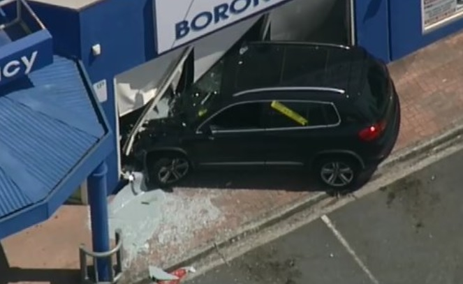 Article image for Black SUV slams into pharmacy in Melbourne's east