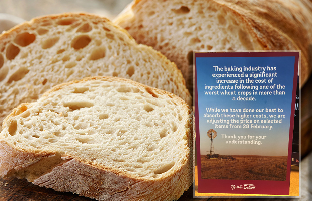 Article image for Confirmed: Bad crop sends bread prices up