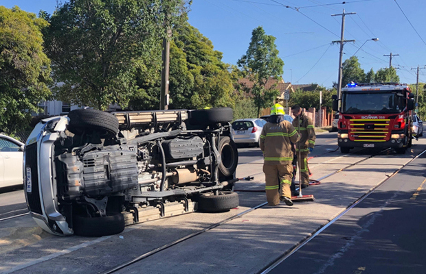 Article image for Hawthorn car flip drama: Witnesses tell of 'sleepy' driver's alleged escape