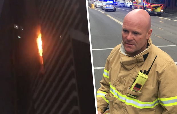 Article image for Spencer St fire: MFB chief compares building cladding to Grenfell Tower