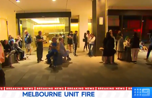 Dozens evacuated in Docklands apartment fire