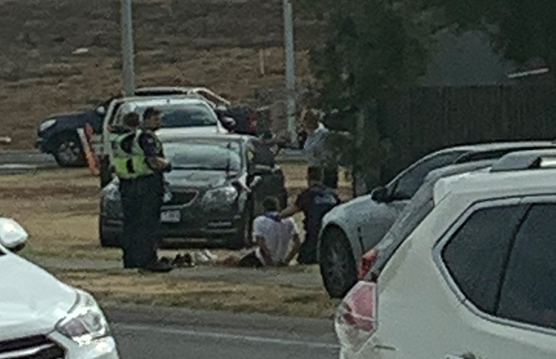Article image for 'Swerving' car crashes out in dramatic Tullamarine Fwy 'chase'
