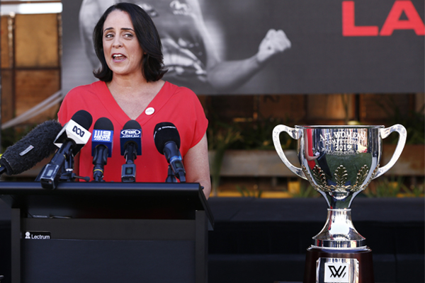 Article image for AFLW CEO Nicole Livingstone convinces Neil Mitchell to get on board with the women's season
