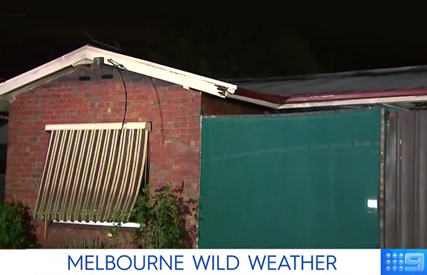 Article image for Lightning 'fireball' sets Preston home alight amid Melbourne storms