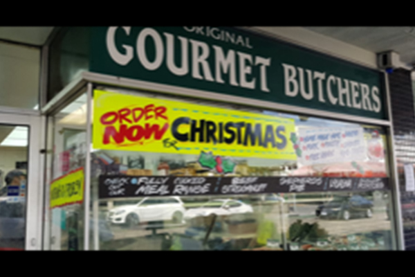Article image for Why a Hawthorn butcher still has 'order now for Christmas' on his shop window
