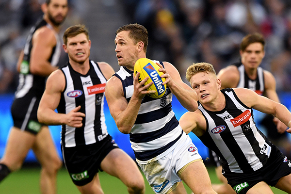 Article image for Geelong edges out Collingwood in a thrilling first round contest!