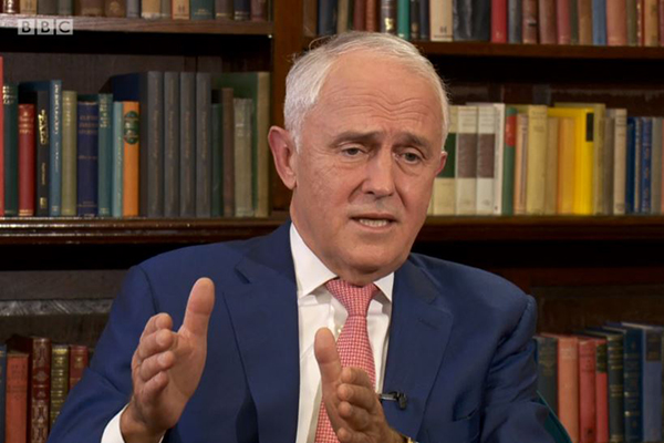 Article image for Malcolm Turnbull's dumping theory dismissed as 'not credible' in BBC interview