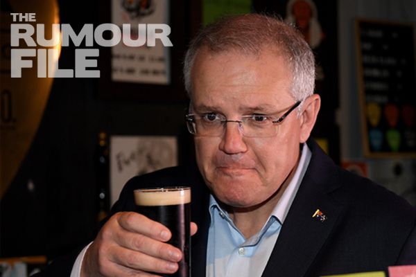 Article image for Rumour confirmed by the PM himself! Scott Morrison spotted at Burnso's local pub