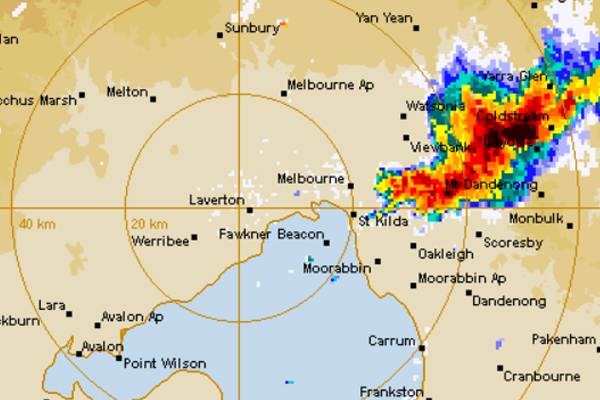 Article image for 'Very dangerous' thunderstorm lashes Melbourne's east
