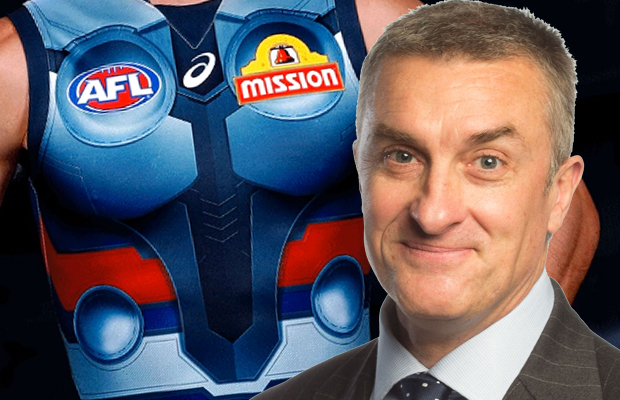 Article image for Tom Elliott is NOT happy with this Western Bulldogs jumper