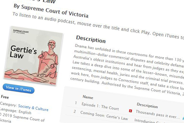 Article image for 'Gertie's Law': Supreme Court launches podcast to explain justice system