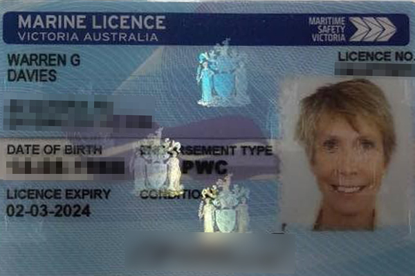 Article image for Warren renews his marine licence and something is not right