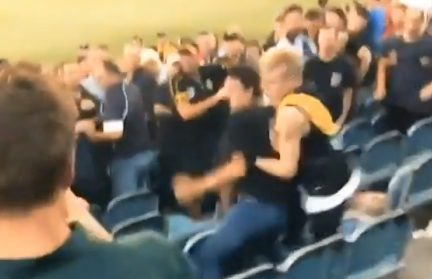 Article image for AFL bans three people involved in MCG brawl
