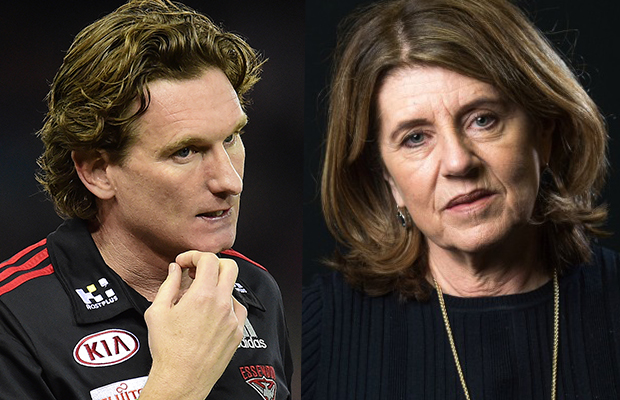 Article image for Caroline Wilson responds to James Hird's 'never say never' comment