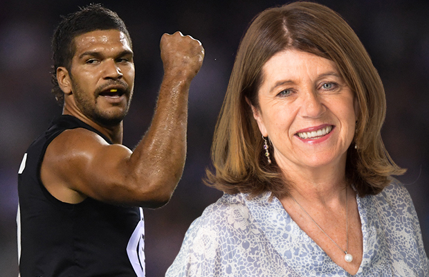 Caroline Wilson and a Carlton fan discuss THOSE comments on Footy Classified