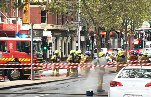Article image for Russell Street blaze causes chaos in the CBD