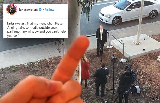 Article image for Greens politician slammed by Tom Elliott over 'pathetic' social media stunt