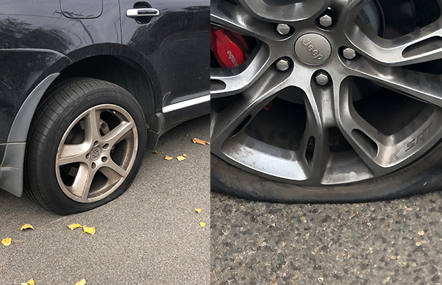 Article image for Multiple cars damaged in tyre slashing spree