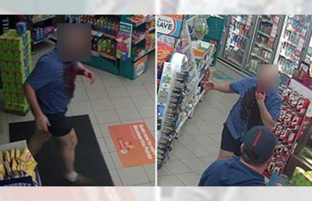 Article image for Shot in the face: Bloody photos released in the hunt for Melton servo gunman