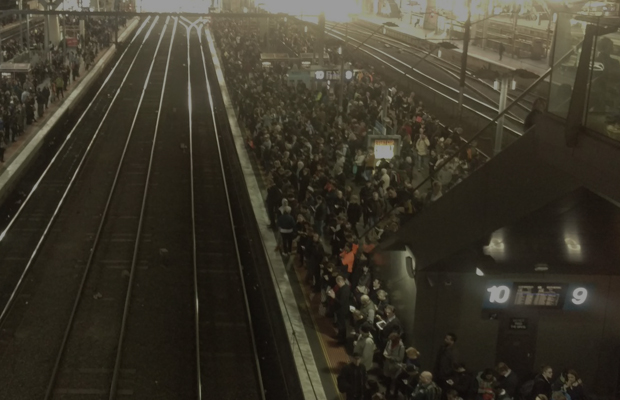 Article image for Busted escalator causes several trains to skip Southern Cross Station during morning peak