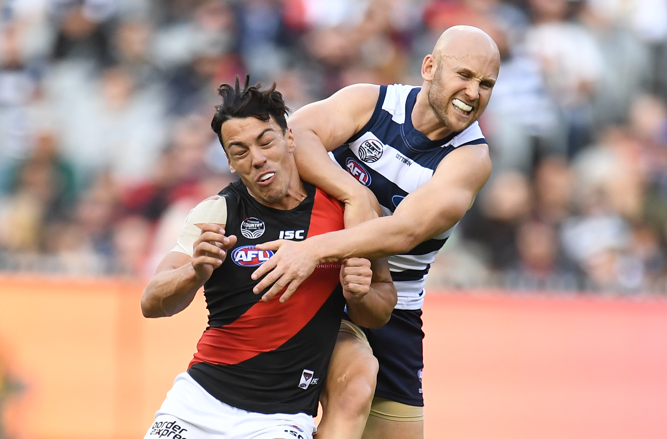 Article image for Ablett reported as Geelong keep top spot with victory over Bombers