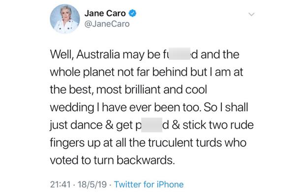 Jane Caro explains THOSE post-election tweets