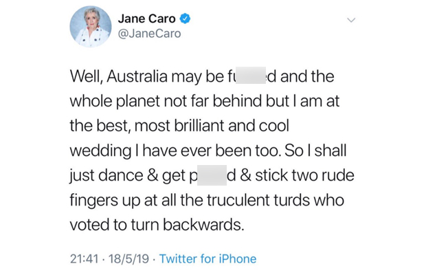 Article image for Jane Caro explains THOSE post-election tweets