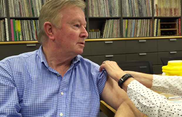 Article image for WATCH: Denis Walter gets his flu shot!