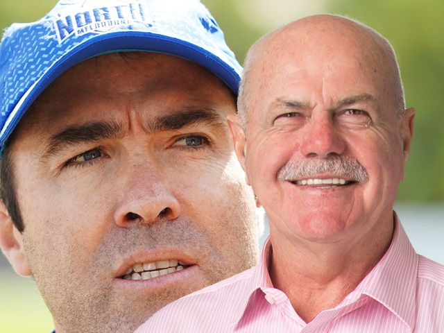 Departing coach Brad Scott levels farewell slap at ex-Roo David King