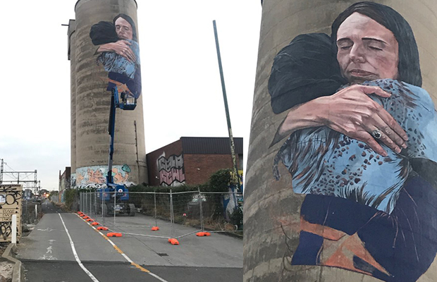 Article image for Brunswick mural of Jacinda Ardern completed